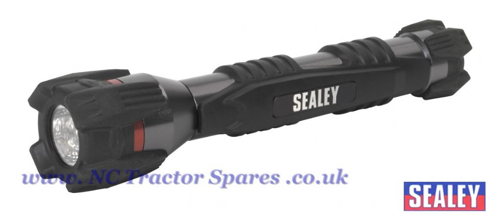 Rubber Grip Aluminium 4 LED Torch 2 x AA Cell